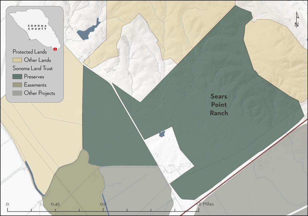 Map of Sears Point Ranch property boundaries.